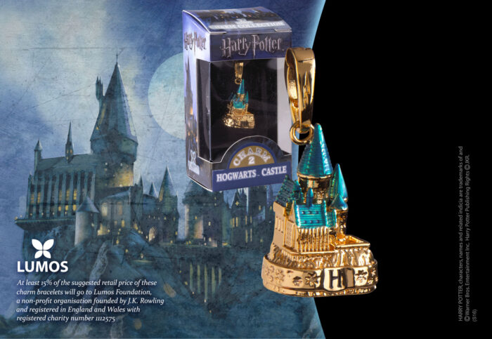 Lumos Charm 2 Hogwarts Castle Coloured Gold