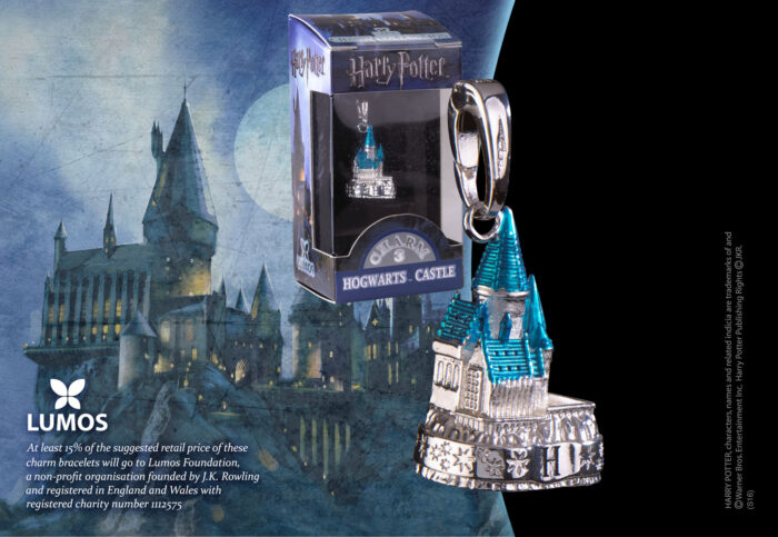 Lumos Charm 3 Hogwarts Castle Coloured Silver