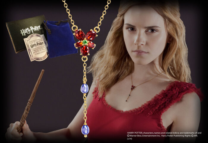 Hermione's Red Crystal Necklace Costume