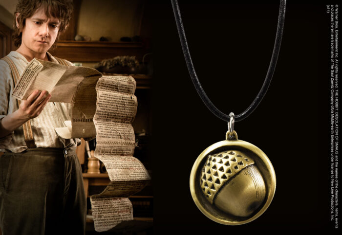 Bilbo Button Pendant Leather Chain