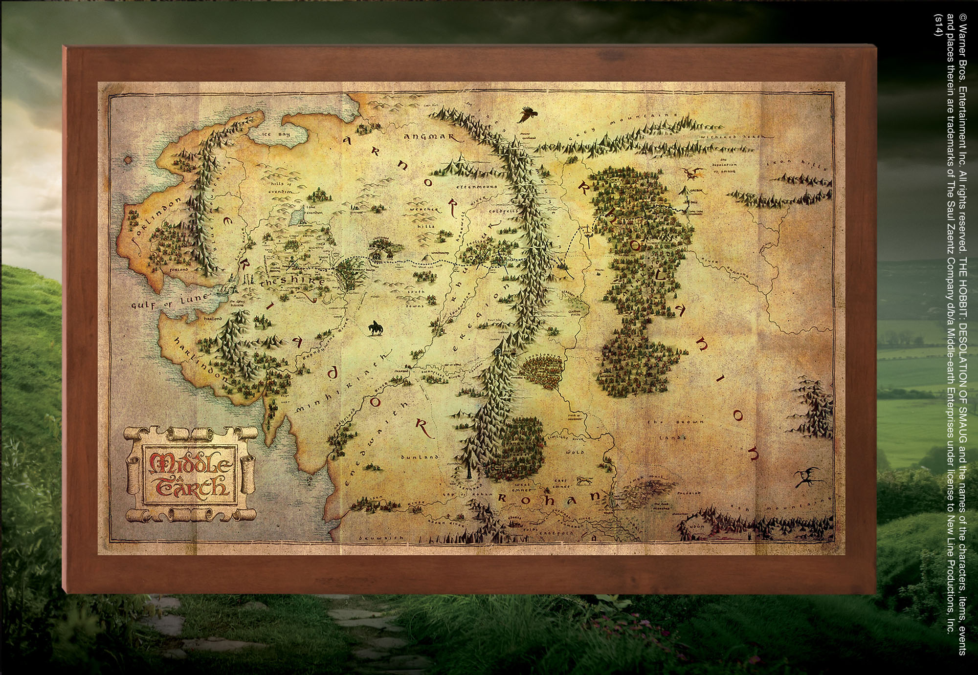 The Map Of Middle Earth The Noble Collection Uk