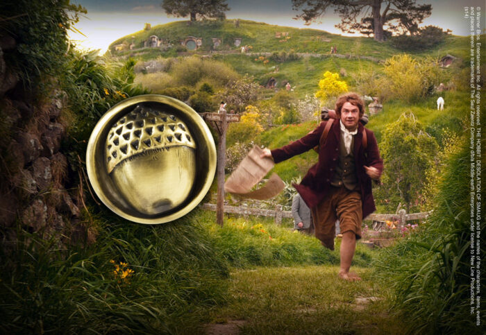 Bilbo Button Pin
