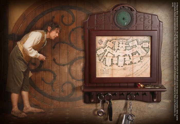 Bag End Map Plaque Key Holder