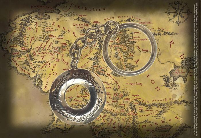Elven Script Keychain