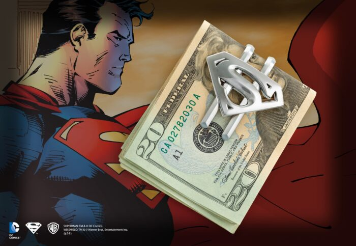 Superman Returns Shield Money Clip Gun Metal