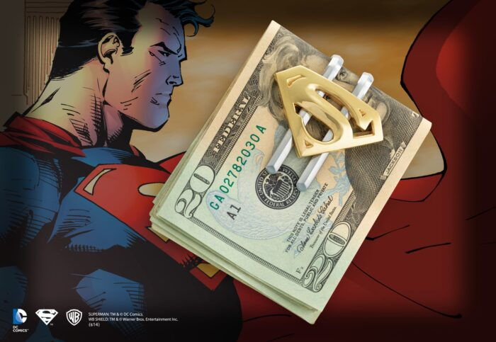 Superman Returns Shield Money Clip Gold Plated