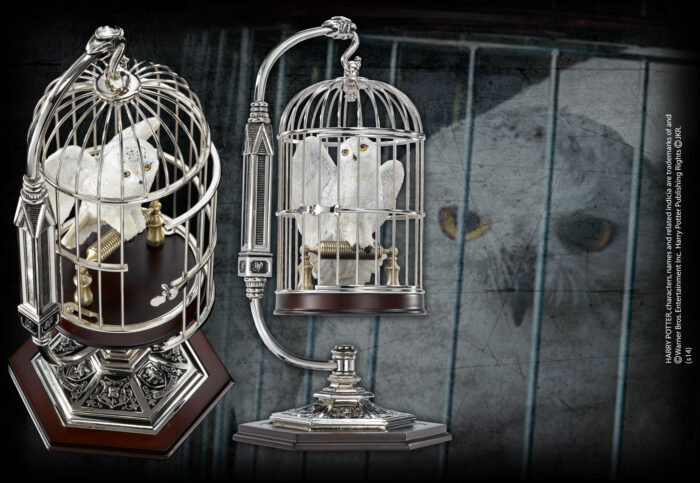 Miniature Hedwig in Cage