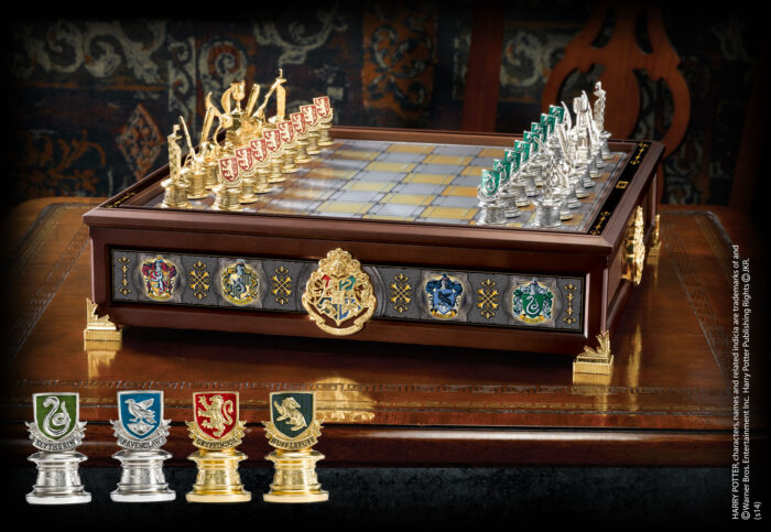 Quidditch Chess Set Silver & Gold Plated