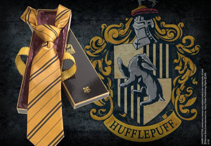 Hufflepuff House Tie in Madam Malkin's Box