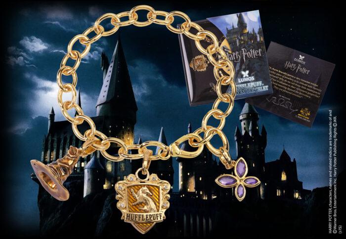 Lumos Hufflepuff Charm Bracelet