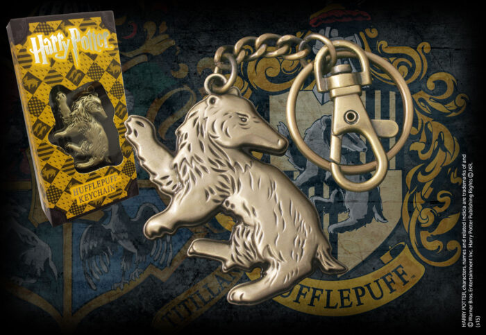 Hufflepuff Shaped Keychain