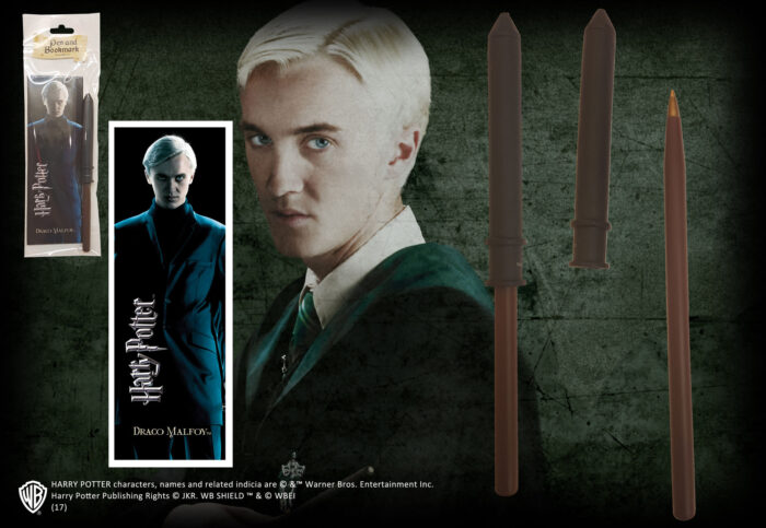 Draco Malfoy Wand Pen and Bookmark