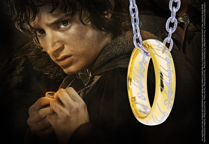 The One Ring - Etched Silver with Chain