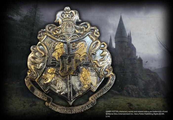 Hogwarts Crest Gun Metal Pin