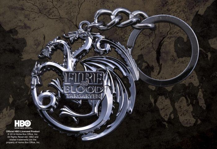 Taragaryen Sigil Keychain - Gun Metal