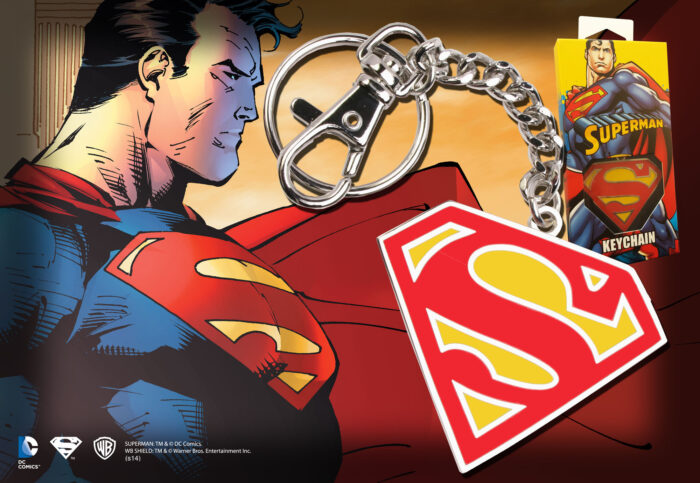 Superman Logo Keychain - Colour