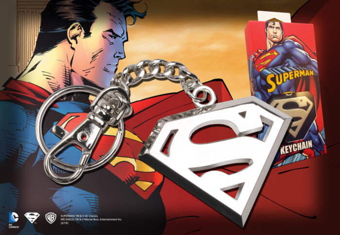 Superman Logo Keychain - Stainless Steel