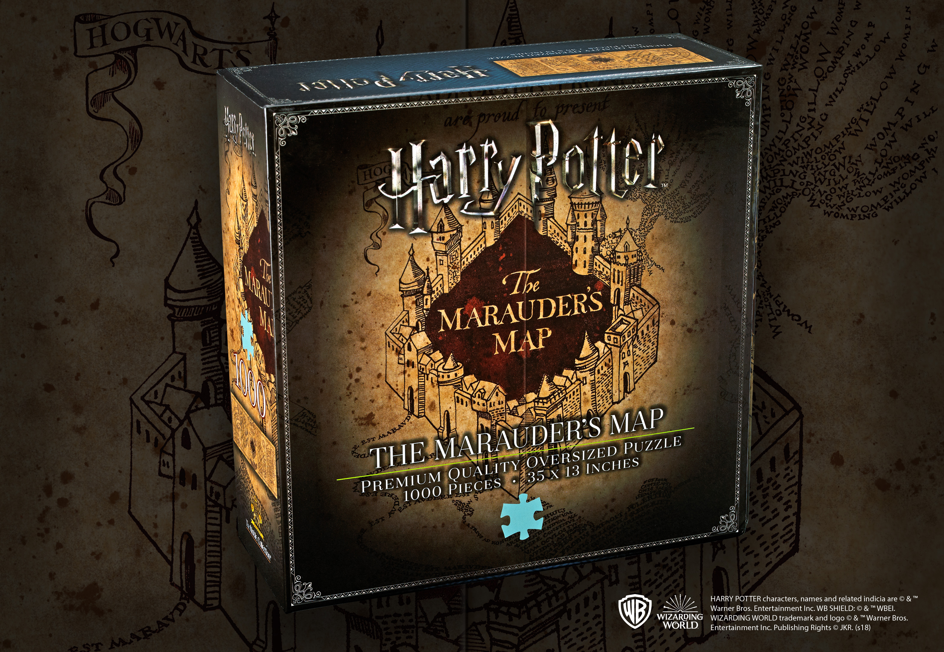 Marauders Map 1,000pc Jigsaw Puzzle — The Noble Collection UK