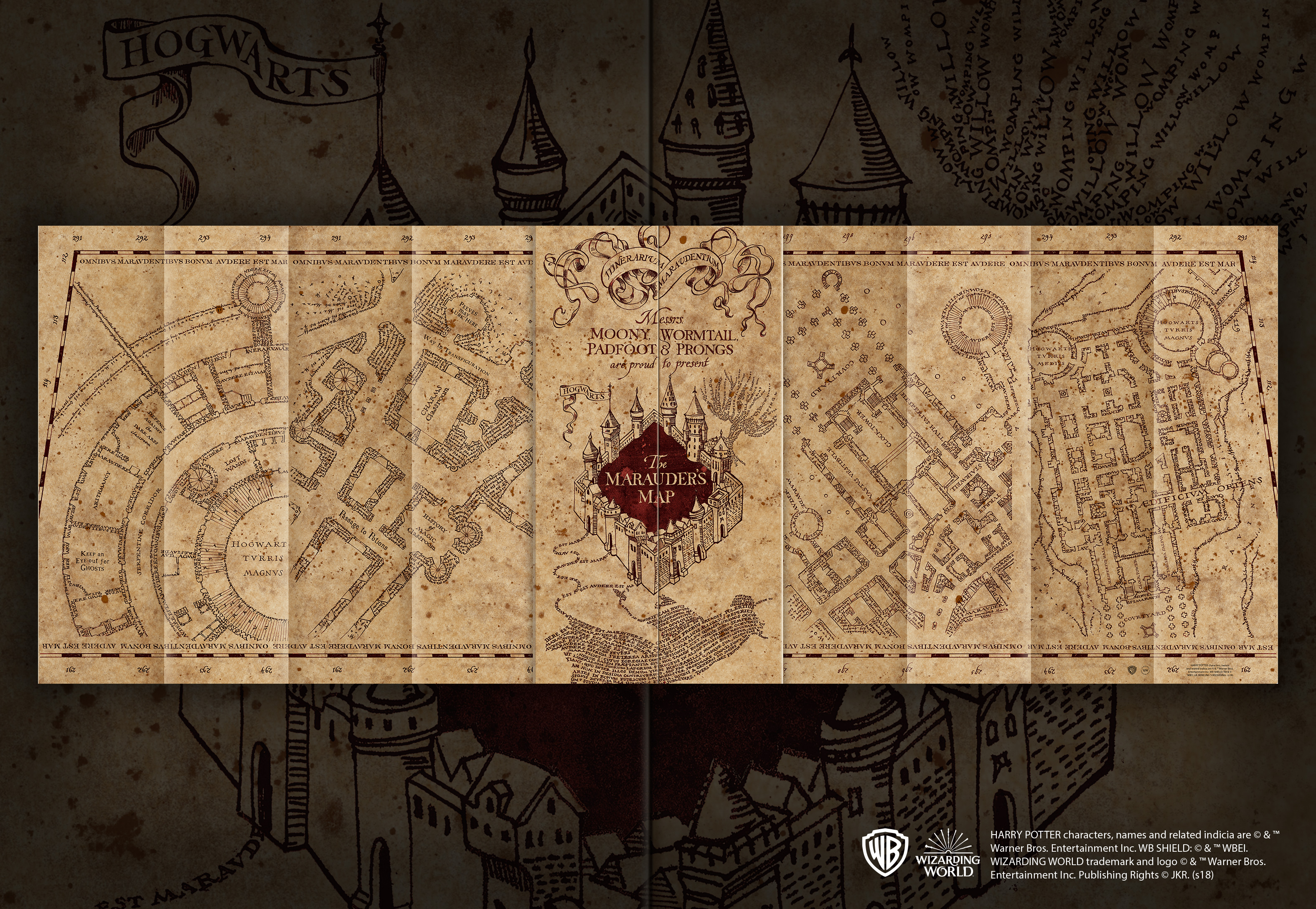 Marauders Map 1,000pc Jigsaw Puzzle — The Noble Collection UK on