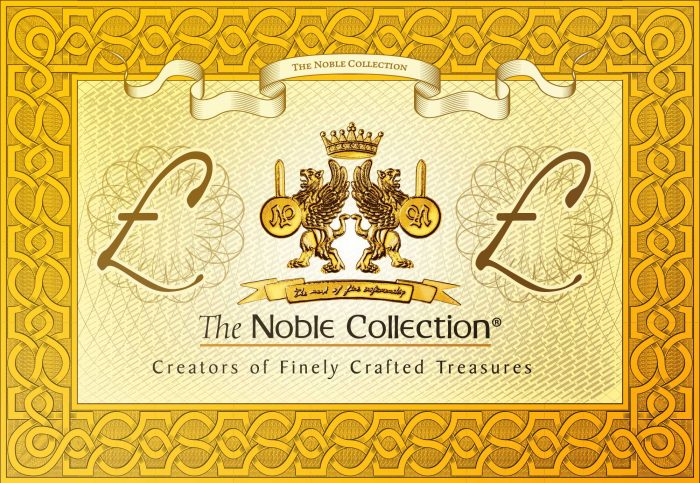 Noble Collection gift voucher